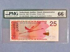 Netherlands Antilles 25 Gulden P-29-C 2003  PMG 66 EPQ
