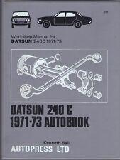 DATSUN 240 C,CUSTOM DELUXE,230 SERIES,CEDRIC AUTOBOOKS WORKSHOP MANUAL 1971-1973