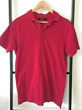 PIERRE CARDIN Men's/Teen's Red Cotton Rugby Short Sleeve Polo Shirt Size Small