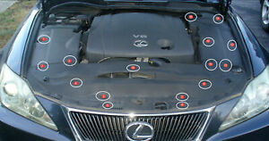 Lexus IS250 (16) OEM design cover engine push replacement retainer New Bulk