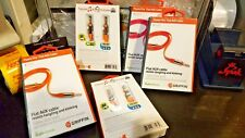 Sale NEW Griffin Flat Auxiliary 3 Ft Tangle Resistant Cable Orange FREE SHIPPING