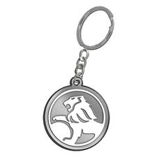 Round Holden Lion Logo Red/chrome Metal Key Ring Chain Tag