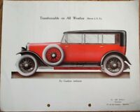 Car/Automobile French 1920s Color Letterhead w/Print on Reverse - De Wolf