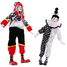 2pcs Porcelain Clown Model Hanging Foot Clown Doll Creative Gift Home Decor