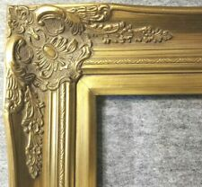 """4"""" Gold Leaf Wood Antique Picture Frame photo art wedding gallery 18x24 B9G"""