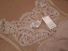Twin set simona barbieri designer Chemise Nightdress silk leavers lace Slip €111