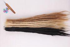 100% Real Human Hair Dreadlocks 50cm Single Ended Crochet Braids Locs Extensions
