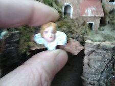 1 testa angelo terracotta minuterie presepe miniature nativity  pastori