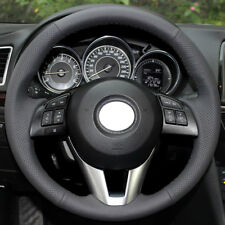 DIY Real Leather Steering Wheel Cover for Mazda 3 6 CX-3 CX-5 CX5 2013 2015 2016