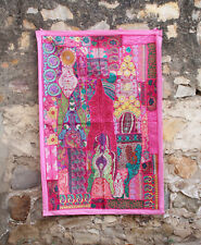 Vintage Wall Embroidered Patchwork Throw Handmade Decor Hanging Tapestry