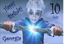 RISE OF THE GUARDIANS JACK FROST A4 TRIFOLD BIRTHDAY CARD PERSONALISED