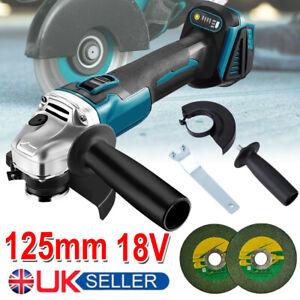 18V 125mm Brushless Angle Grinder For Makita Cordless Replace Li-ion Battery UK