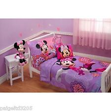 Disney Minnie Mouse Fluttery Friends 4-pc Girl's Toddler Bedding Set