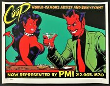 Green PMI POSTER Classic Devil With Girl Artist Proof A/P Signed by Coop Rare!