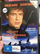 The Night of The Following Day ex-rental region 4 DVD (1969 Marlon Brando movie)
