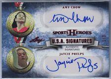 2013 LEAF SPORTS HEROES U.S.A. SIGNATURES RED #ACJP AMY CHOW/JAYCIE PHELPS #1/3