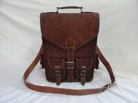"Real Leather Messenger Bag 15"" Laptop Satchel Briefcase Crossbody Shoulder Bag"