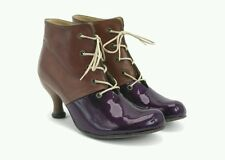 $325 JOHN FLUEVOG BELLEVUES: ROSE DUNN 7 LEATHER ANKLE BOOTS HEEL BOOTIES SHOES