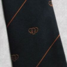 Da Uomo Cravatta Vintage con Logo club associazione società Tie Jago Blu Navy 1980 S 1990 S