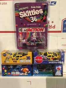 Lot of 5 RCCA Action 1/64 Ernie Irvan #36 M&M's Pedigree Crispy Millennium Berry