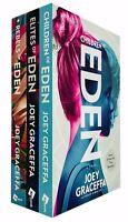 Joey Graceffa 3 Books Collection Set Eden Trilogy Series Fiction Paperback NEW