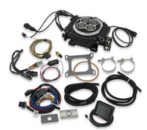 Holley Sniper EFI 550-511 Self Tuning Fuel Injection Kit Black Ceramic Finish