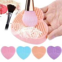 1pc Silicone Heart Shape Makeup Brush Scrubber Cleaning Cosmetic Foundation
