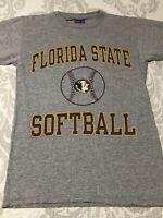 RARE FSU Florida State Seminoles softball champion brand shirt small