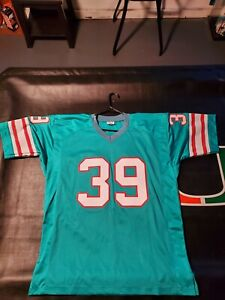 UNSIGNED CUSTOM Sewn Stitched Larry Csonka Teal Jersey - M, L, XL, 2XL