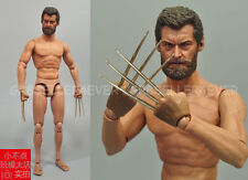 1/6 scale Old Logen Wolverine Hugh Jackman with metal claws Muscular figure body
