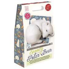 Snoozy Polar Bear Needle Felting Kit Containing 100 Wool Felting Needles High
