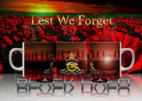 Lest we forget 10-11oz Mug with choice of Regiments 10% donated to Charity
