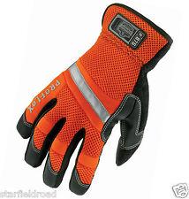 proflex hi-vis gauntlet trades gloves, reflective, safety, protection, SMALL