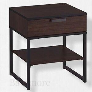 """IKEA TRYSIL Nightstand, dark brown, black,17 3/4 x 15 3/4"""" BRAND NEW-"""