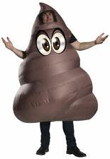 Poop Emoji Mens Adult Funny Brown Inflatable Halloween Costume