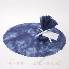 100 Mandelkreise blau für Hochzeitsmandeln Tüllkreise