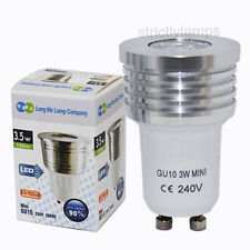 Cool White 3W Mini GU10 LED High Power LED Replaces Small GU10 Halogen 35mm
