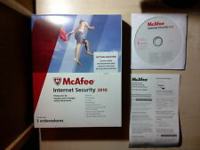 Antivirus MCAFEE INTERNET SECURITY 2010(Hasta 3 ordenadores)WINDOWS, MAC Y LINUX