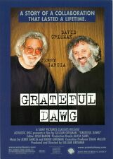 PROMO POSTCARD - GRATEFUL DAWG - JERRY GARCIA & DAVID GRISMAN