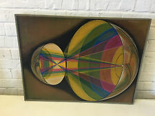 Vtg 1972 Hal Poth Acrylic Modern Painting Retina / Corneal Balance in the Eye