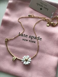 New Kate Spade dazzling daisies mini floral gold tone necklace cute gift