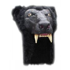 Ours noir masque casque latex et fourrure synthétique halloween déguisements adulte
