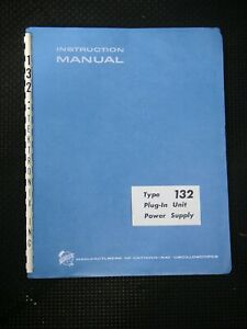 TEK Type 132 Plug-in Power Supply Instruction Manual