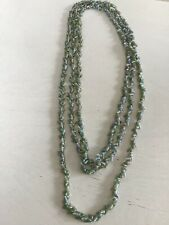 Antique Tasmanian Maireener Shells Necklace Blue 64� Wow