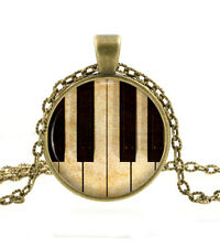 Piano Keys Pendant Necklace - Music Lovers Jewelry Gifts for Women