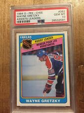 1984 Opc Wayne Gretzky Psa 10 Gem Mint #382 Assists Leader