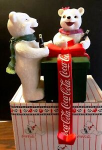 Coca Cola Polar Bear Stocking Holder - RARE