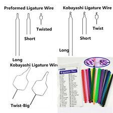 Dental Preformed Ligature Wire Kobayashi Ligatures Ties Ss Long Short Twisted