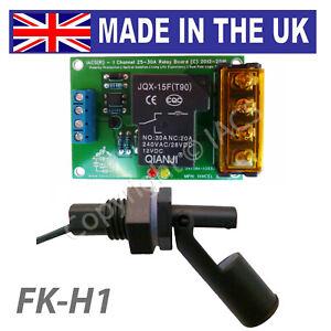 IACS Water Level Float Switch Sensor Kit 25A 30A 1 Channel Liquid Relay FK-H1 UK