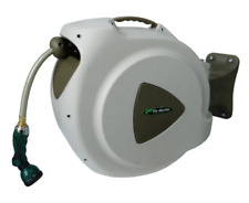 Retractable Garden Water Hose Reel w/ Nozzle Wall Mounted Swivel Storage 65 ft.